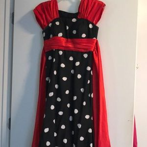 Black White and Red prom dress